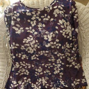 APPLESEED'S SHADES OF PURPLE FLORAL PRINT TOP